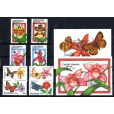 Flowers-Butterflies Various