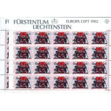 1982 Lichtenstein Europa