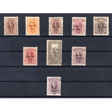 "1917 Black Surcharge on stamps of ""Flying Hermes"" 1901"