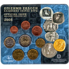 2005 Official Issue Hellenic Eurocoin set