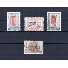 1946-1950 Historical 1937 with surcharge in red or blue