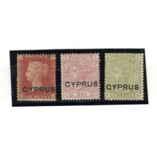 "1880 Stamps of Great Britain Provisional overprinted ""CYPRUS"""