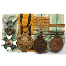 GREECE: Mounted  GROUP  of  four  ( Balkan wars )